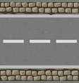 seamless pattern cartoon road made asphalt vector image