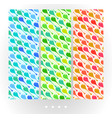 set of light abstract seamless patterns vector image