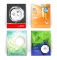 set of modern business booklets vector image vector image
