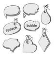 speech bubble doodle set vector image vector image