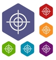 Target crosshair icons set vector image vector image