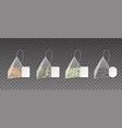 tea bags realistic pyramids 3d teabags vector image