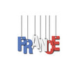 the word frace hang on the ropes vector image vector image