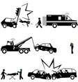 tragic scenes car accidents vector image
