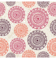Vintage circle elements seamless pattern vector image vector image