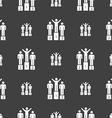 Winners Icon sign Seamless pattern on a gray vector image vector image