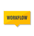 workflow price tag vector image vector image