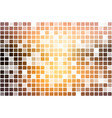 yellow coral pink black occasional opacity mosaic vector image vector image
