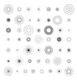 Round ornament set spirograph vector image