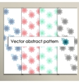 Abstract colored flowers on a white background vector image