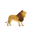 Abstract lion vector image vector image