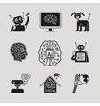 AI Artificial Intelligence icons and signs vector image
