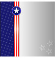 american flag symbol frame card vector image vector image