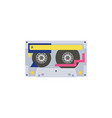 audio vintage stereo cassette symbol or icon flat vector image vector image
