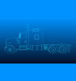 background with the outline of the truck without a vector image vector image