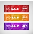 Big sale horizontal banners vector image