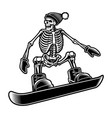 black and white a skeleton vector image vector image
