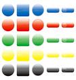 button set vector image vector image