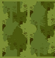 camouflage woods green seamless pattern vector image vector image