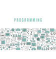 Coding and programming background coding and vector image