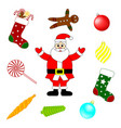 collection christmas design elements vector image