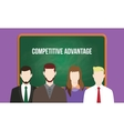 competitive advantage concept in a team vector image vector image