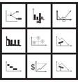 Concept flat icons in black and white infographics vector image vector image