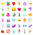 cosmetic product icons set cartoon style vector image vector image
