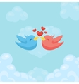 Couple of birds in love Card for Valentine day vector image