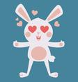 Cute Bunny Crazy in Love vector image vector image