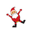 cute happy santa claus vector image vector image