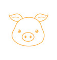 cute pig face cartoon animal line design vector image vector image