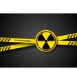 Danger tape abstract background with radiation vector image