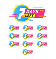 days to go badges product promotion big vector image