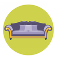 Digital purple sofa with pills vector image vector image