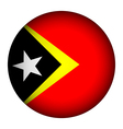 East Timor flag button vector image vector image