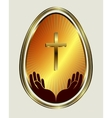 Easter egg with yellow gold trim vector image