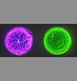 electric balls spheres purple and green colors vector image vector image