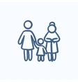 Family sketch icon vector image vector image