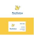 flat bird logo and visiting card template vector image vector image