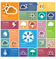 Flat design interface icon set 3 vector image vector image