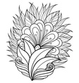 Floral decorative design vector image vector image