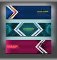 geometric banner design vector image vector image