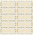 geometric ethnic seamless pattern vector image