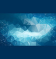 geometric white blue polygonal background vector image vector image