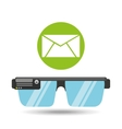 glasses technology email application media vector image vector image