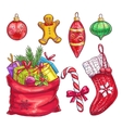 Hand drawn christmas decorative elements