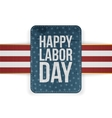 Happy Labor Day realistic paper Banner vector image vector image