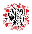 Happy Mothers day greeting card with hearts vector image vector image