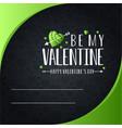 happy valentines day invitation card design vector image